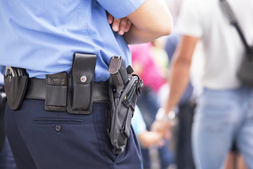 uniformed armed security officer