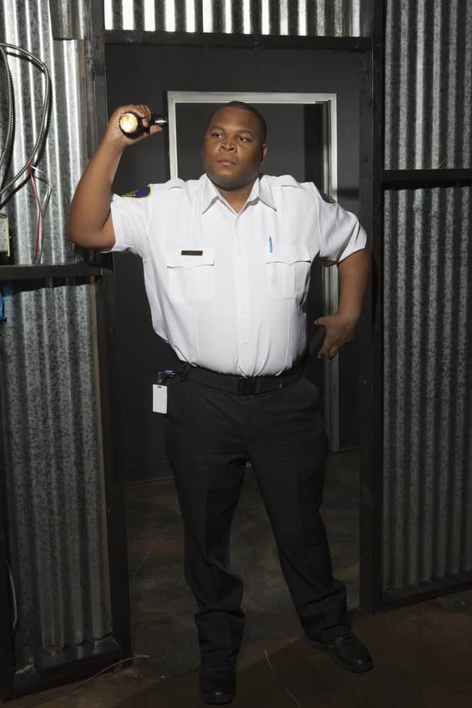 security guard at construction site
