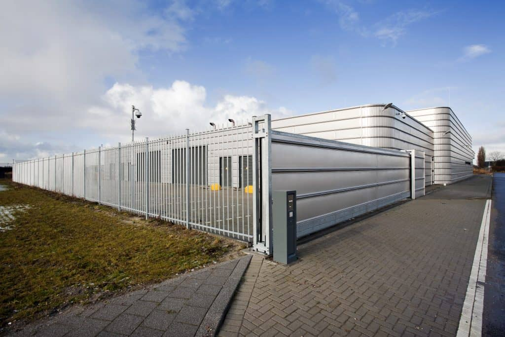 Warehouse secure fence
